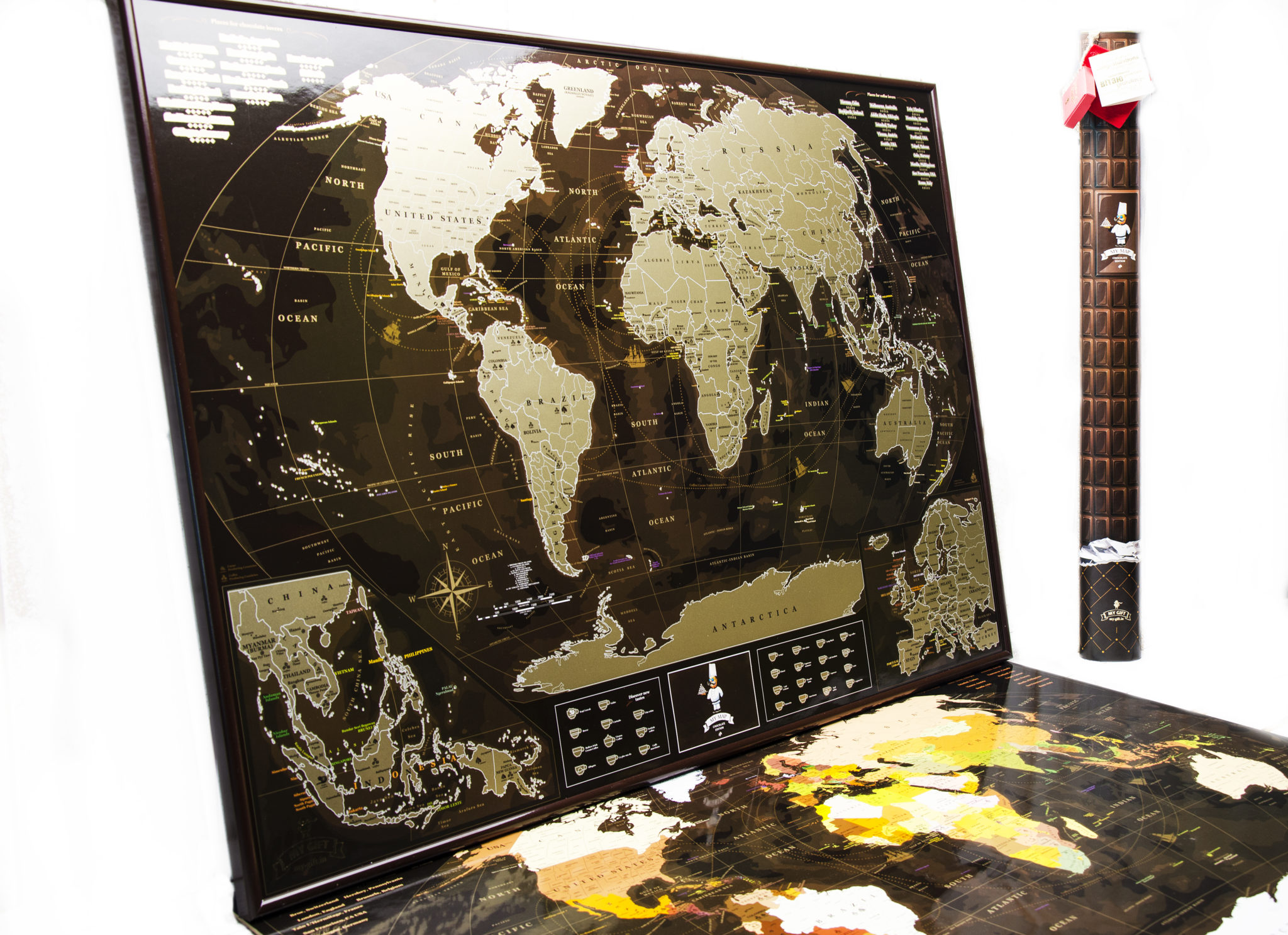 Map deluxe scratch off archives scratch maps scratch map world chocolate coffee edition gumiabroncs Gallery